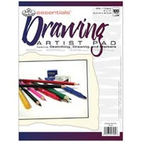 "100 Sheets - Essentials Drawing Artist Paper Pad 9""X12"""