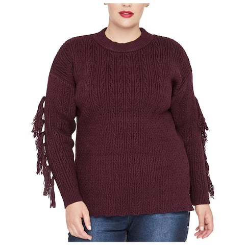 Rachel Rachel Roy Womens Harlee Pullover Sweater Knit Ribbed Trim - Royal Orchid