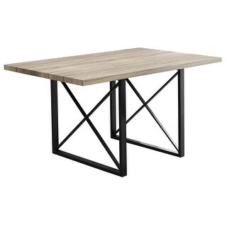 Monarch Specialties I 110 60 Inch Wide Dining Table with Metal Legs - N/A