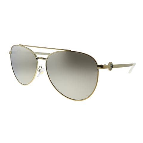 Tory Burch TY 6074 328513 Womens Shiny Gold Metal Frame Brown Gradient Lens Sunglasses
