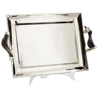 "Cyan Design 8858 12"" Tall Hammered Finish Decorative Tray"