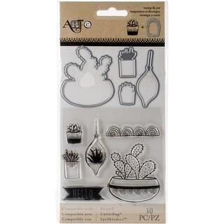 Art-C Stamp & Die Set-Succulents - succulents