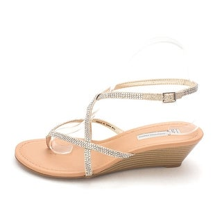 INC International Concepts Womens Mayca2 Fabric Open Toe Casual Ankle Strap S...