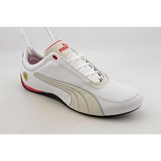 Puma Drift Cat 4 SF Carbon Men  Round Toe Leather White Fashion Sneakers