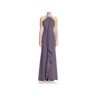 Aidan by Aidan Mattox Womens Evening Dress Halter Full-Length