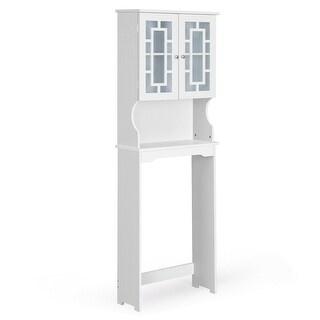 Costway Bathroom Spacesaver Over the Toilet Door Storage Cabinet Tower
