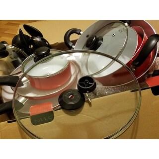 Diamond Home 15-piece Ceramic Black Soft handle Cookware Set