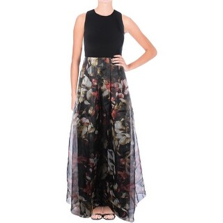 Aqua Womens Formal Dress Full Length Floral Printed