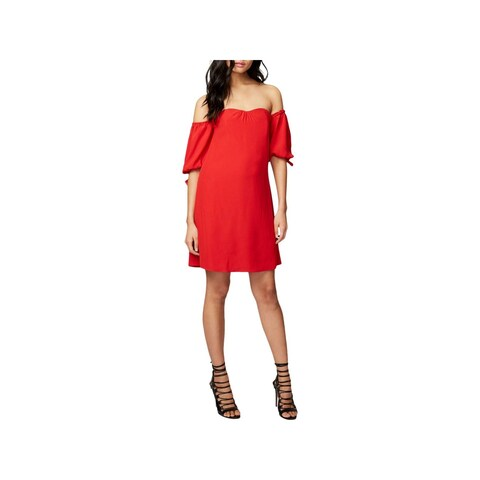 Rachel Rachel Roy Womens Cocktail Dress Off-The-Shoulder Sweetheart Neckline
