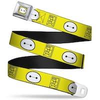 Baymax Face Full Color Yellow Black White Bymax Hanko Face Yellow Black Seatbelt Belt