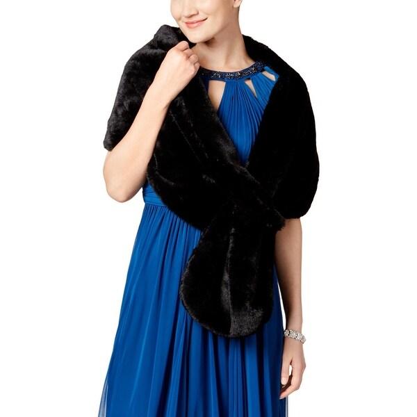 SL Fashions Womens Wrap Faux Fur Pull Through - o/s