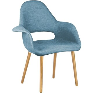 2xhome Organic Style Upholstered Plastic Chair with Light brown Natural Wood Legs