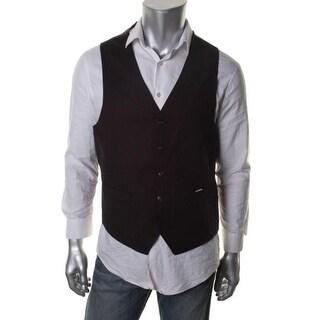 Sean John Mens Solid Button Front Suit Vest - 44L