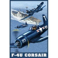 F-4U Corsair - LP Artwork (Cotton/Polyester Chef's Apron)
