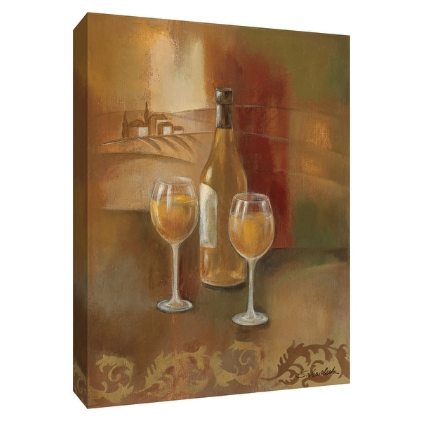 """PTM Images 9-154529 PTM Canvas Collection 10"""" x 8"""" - """"Old World Wine II"""" Giclee Wine Art Print on Canvas"""