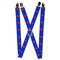 Buckle Down Men's Elastic DC Comics Superman Clip End Suspenders