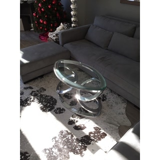 Disc Coffee Table with Glass Top