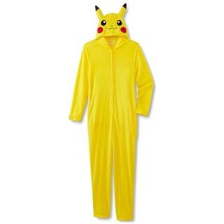 Pokemon Pikachu Junior Girls Union Suit Pajamas One Piece Costume
