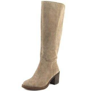 Lucky Brand Ritten  Women  Round Toe Suede Gray Knee High Boot