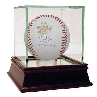 George Springer 2017 World Series Baseball w WS MVP Insc