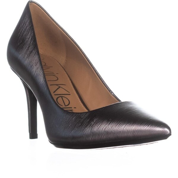 Calvin Klein Gayle Classic Pump Heels, Anthracite - 9 us / 39 eu