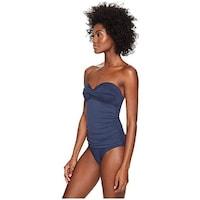 86bd801960df2 Shop Calvin Klein Women's Colorblocked Mesh Bandeau One-Piece ...