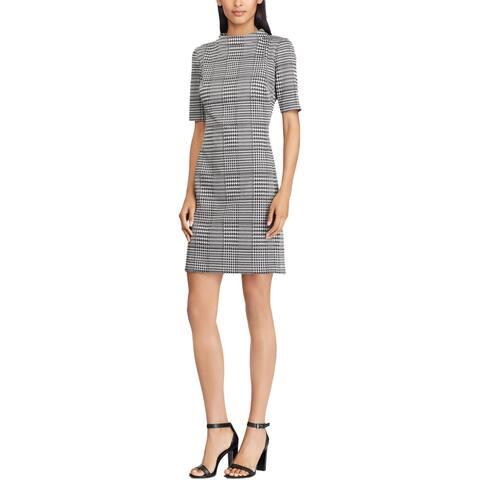 American Living Womens Pandora Wear to Work Dress Houndstooth Office