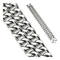 Stainless Steel Dual Band Bracelet (23 mm) - 8.75 in - Thumbnail 0