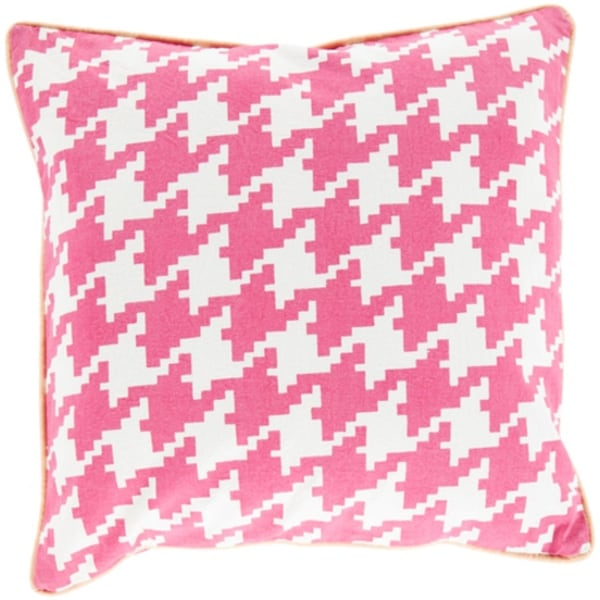 40 Pink Ivory And Peach Hounds Tooth Decorative Throw Pillow Shell Impressive Peach Decorative Throw Pillows