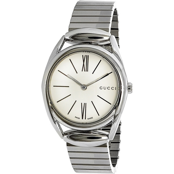 642d77109f4 Shop Gucci Women s Silver Stainless-Steel Quartz Fashion Watch - Free  Shipping Today - Overstock - 18617012