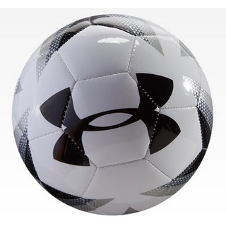 Under Armour Unisex Desafio 395 Soccer Ball, White/Steel, 4 - white/steel