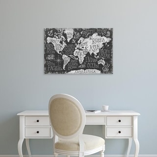 Easy Art Prints Mary Urban's 'Mythical Map I' Premium Canvas Art