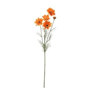 "32"" Decorative Vibrant Orange Artificial Cosmos Inspired Floral Spray"