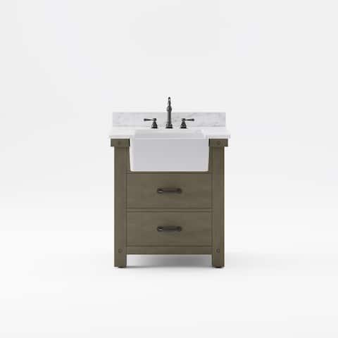 Paisley Bathroom Vanity Sink Carrara White Marble Countertop Vanity