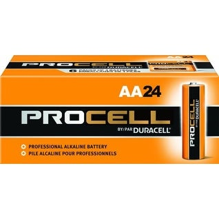 Duracell Procell Alkaline Battery Size AA 1.5 Volt - Box of 24