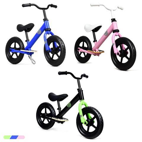 Costway 12'' Kids Balance Bike No Pedal Sport Training Bicycle w/