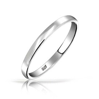 Bling Jewelry .925 Sterling Silver Wedding Band Thumb Toe Ring 3mm