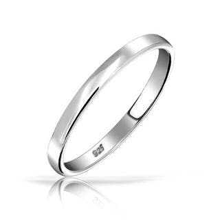 bling jewelry 925 sterling silver wedding band thumb toe ring 3mm - Sterling Silver Wedding Rings