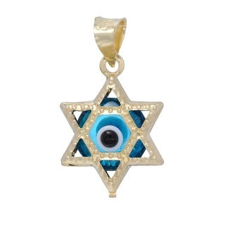 Mcs Jewelry Inc 14 KARAT YELLOW GOLD STAR OF DAVID CHARM PENDANT (18mm)