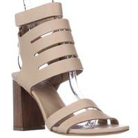 VINCE Freida Ankle Strap Heeled Sandals, Nude - 6 us / 36 eu