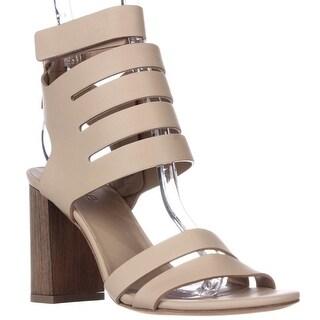 VINCE Freida Ankle Strap Heeled Sandals - Nude