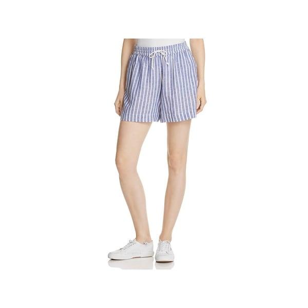 56a73aae09 Shop Beach Lunch Lounge Womens Casual Shorts Linen Striped - XL ...