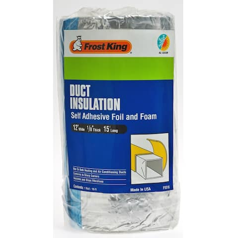 "Frost King FV516 Duct Insulation Self Adhesive Foil & Foam, 15' Long, 12"" Wide"