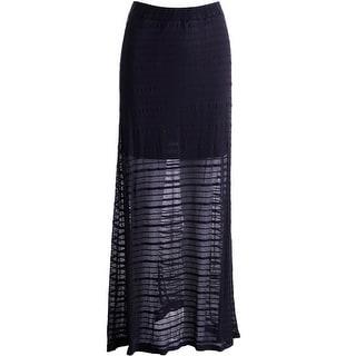 Love, Fire Womens Juniors Maxi Skirt Shadow Stripe Pull On