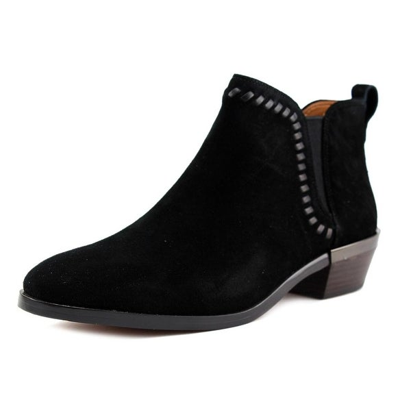 Coach Carter Women Round Toe Suede Black Ankle Boot