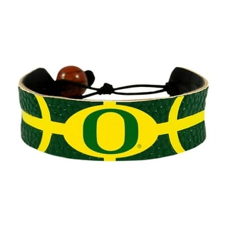 Oregon Ducks Team Color NCAA Gamewear Leather Basketball Bracelet