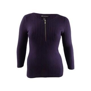 INC International Concepts Women's Zip-Front Sweater