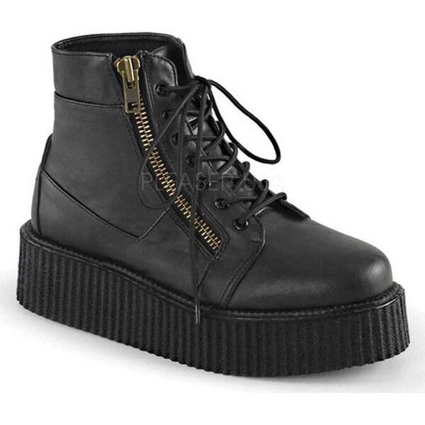 e06d43cab52 Demonia V Creeper 571 Ankle Boot Black Vegan Leather