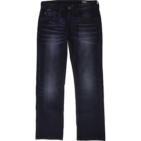 Buffalo David Bitton Mens Six-X Slim Straight Stretch Jeans, blue, 32W x 30L - 32W x 30L