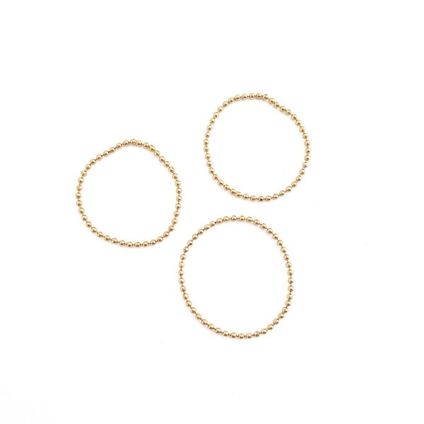 Honeycat Tiny Ball Chain Ring Trio (Delicate Jewelry)